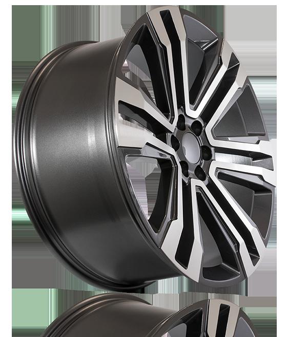 FSW - Machined Face Gunmetal Outline SLT Style - F132 Wheels (Truck/SUV Series)