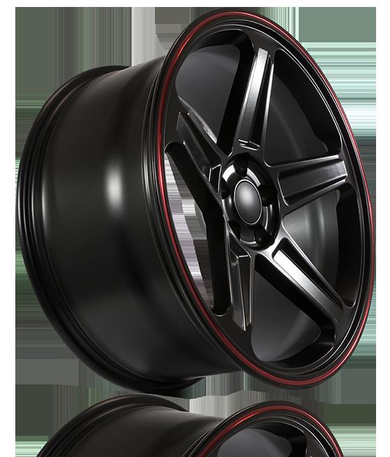 FSW - Satin Black w/Red Pin Stripe Demon Style - F155 Wheels (Factory Forged Series)
