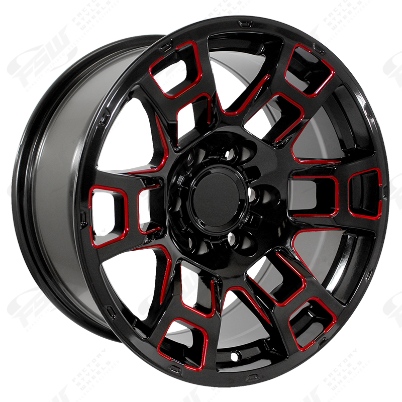 FSW - Gloss Black Red Milled 2021 Flow Forged 4TR Pro Style - F256 (Right Facing)