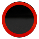 FSW - Red Ring Center Cap for Gloss Black 2021 Flow Forged 4TR Pro Style - F247