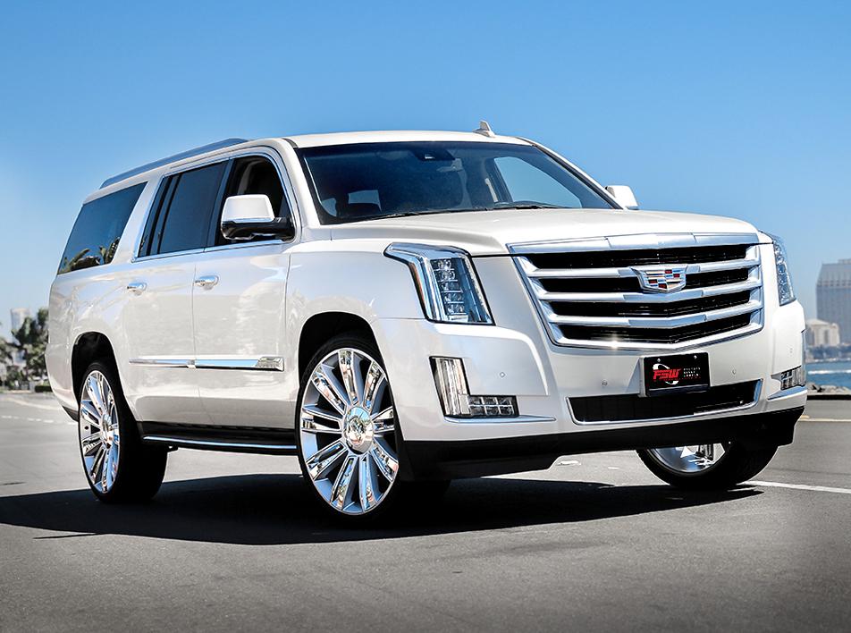 "FSW - Vehicle Gallery - Cadillac Escalade with FSW 26"" Diamond Style F007"